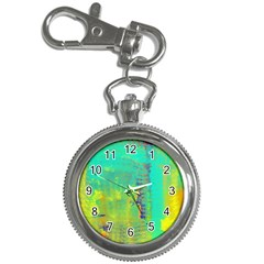 Abstract in Turquoise, Gold, and Copper Key Chain Watches
