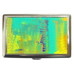 Abstract in Turquoise, Gold, and Copper Cigarette Money Cases