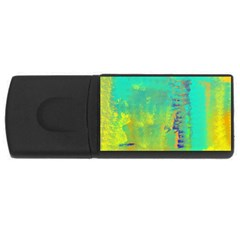 Abstract in Turquoise, Gold, and Copper USB Flash Drive Rectangular (1 GB)