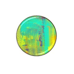 Abstract in Turquoise, Gold, and Copper Hat Clip Ball Marker
