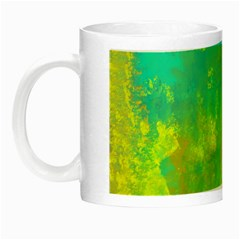 Abstract in Turquoise, Gold, and Copper Night Luminous Mugs