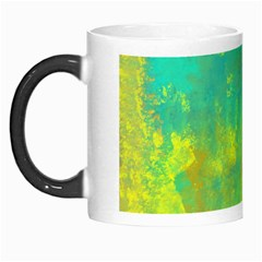 Abstract in Turquoise, Gold, and Copper Morph Mugs