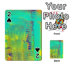 Abstract in Turquoise, Gold, and Copper Playing Cards 54 Designs