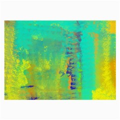 Abstract in Turquoise, Gold, and Copper Large Glasses Cloth (2-Side)