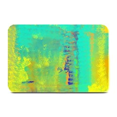Abstract in Turquoise, Gold, and Copper Plate Mats