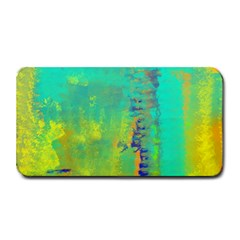Abstract in Turquoise, Gold, and Copper Medium Bar Mats