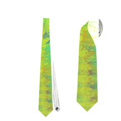Abstract in Turquoise, Gold, and Copper Neckties (Two Side)