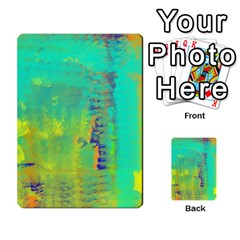 Abstract In Turquoise, Gold, And Copper Multi Purpose Cards (rectangle)