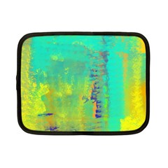 Abstract In Turquoise, Gold, And Copper Netbook Case (small)