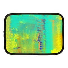 Abstract in Turquoise, Gold, and Copper Netbook Case (Medium)