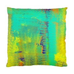 Abstract in Turquoise, Gold, and Copper Standard Cushion Cases (Two Sides)