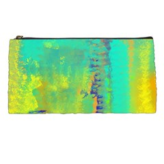 Abstract in Turquoise, Gold, and Copper Pencil Cases