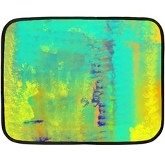 Abstract in Turquoise, Gold, and Copper Double Sided Fleece Blanket (Mini)