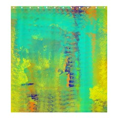 Abstract In Turquoise, Gold, And Copper Shower Curtain 66  X 72  (large)