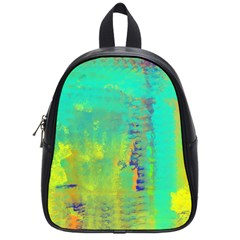 Abstract in Turquoise, Gold, and Copper School Bags (Small)
