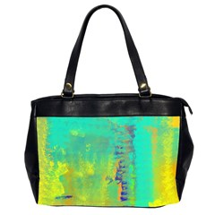 Abstract in Turquoise, Gold, and Copper Office Handbags (2 Sides)