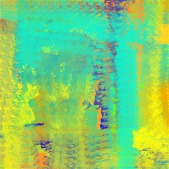 Abstract in Turquoise, Gold, and Copper Magic Photo Cubes
