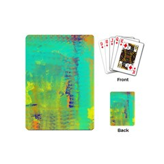 Abstract in Turquoise, Gold, and Copper Playing Cards (Mini)