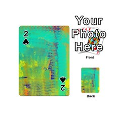 Abstract in Turquoise, Gold, and Copper Playing Cards 54 (Mini)