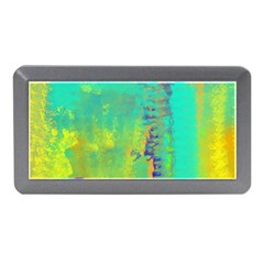 Abstract in Turquoise, Gold, and Copper Memory Card Reader (Mini)