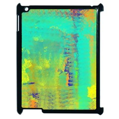 Abstract in Turquoise, Gold, and Copper Apple iPad 2 Case (Black)