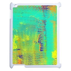 Abstract In Turquoise, Gold, And Copper Apple Ipad 2 Case (white)