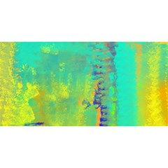 Abstract in Turquoise, Gold, and Copper YOU ARE INVITED 3D Greeting Card (8x4)