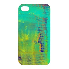 Abstract in Turquoise, Gold, and Copper Apple iPhone 4/4S Hardshell Case