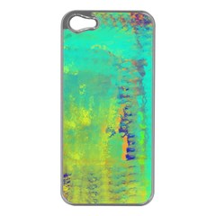 Abstract in Turquoise, Gold, and Copper Apple iPhone 5 Case (Silver)