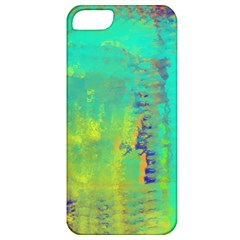 Abstract in Turquoise, Gold, and Copper Apple iPhone 5 Classic Hardshell Case