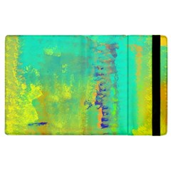 Abstract in Turquoise, Gold, and Copper Apple iPad 2 Flip Case