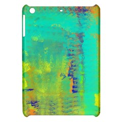 Abstract in Turquoise, Gold, and Copper Apple iPad Mini Hardshell Case