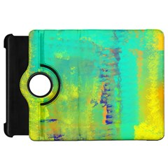 Abstract in Turquoise, Gold, and Copper Kindle Fire HD Flip 360 Case