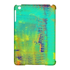 Abstract in Turquoise, Gold, and Copper Apple iPad Mini Hardshell Case (Compatible with Smart Cover)