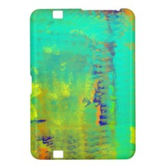 Abstract in Turquoise, Gold, and Copper Kindle Fire HD 8.9