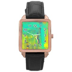 Abstract in Turquoise, Gold, and Copper Rose Gold Watches