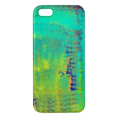Abstract In Turquoise, Gold, And Copper Apple Iphone 5 Premium Hardshell Case