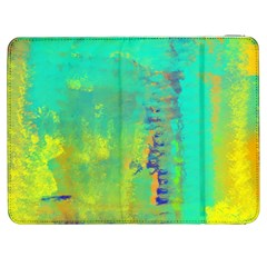 Abstract In Turquoise, Gold, And Copper Samsung Galaxy Tab 7  P1000 Flip Case