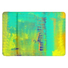 Abstract In Turquoise, Gold, And Copper Samsung Galaxy Tab 8 9  P7300 Flip Case