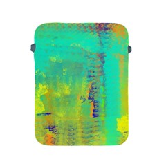Abstract in Turquoise, Gold, and Copper Apple iPad 2/3/4 Protective Soft Cases