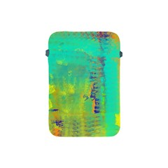 Abstract in Turquoise, Gold, and Copper Apple iPad Mini Protective Soft Cases