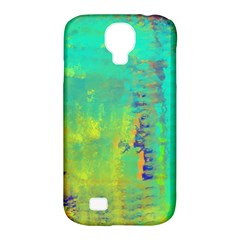 Abstract in Turquoise, Gold, and Copper Samsung Galaxy S4 Classic Hardshell Case (PC+Silicone)
