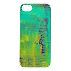 Abstract in Turquoise, Gold, and Copper Apple iPhone 5S Hardshell Case