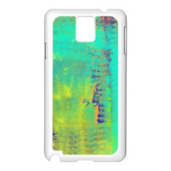 Abstract in Turquoise, Gold, and Copper Samsung Galaxy Note 3 N9005 Case (White)