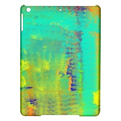 Abstract In Turquoise, Gold, And Copper Ipad Air Hardshell Cases
