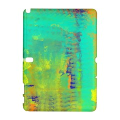 Abstract In Turquoise, Gold, And Copper Samsung Galaxy Note 10 1 (p600) Hardshell Case