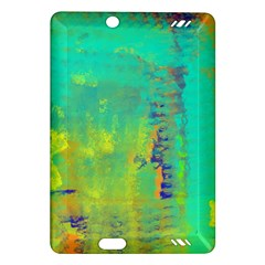 Abstract In Turquoise, Gold, And Copper Kindle Fire Hd (2013) Hardshell Case