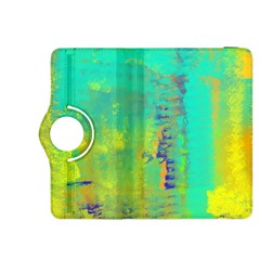 Abstract In Turquoise, Gold, And Copper Kindle Fire Hdx 8 9  Flip 360 Case