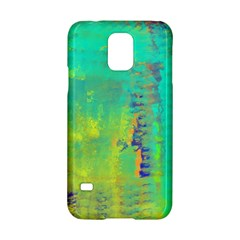Abstract in Turquoise, Gold, and Copper Samsung Galaxy S5 Hardshell Case