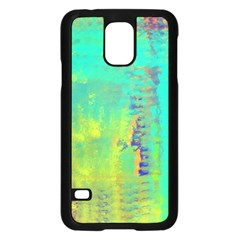 Abstract In Turquoise, Gold, And Copper Samsung Galaxy S5 Case (black)